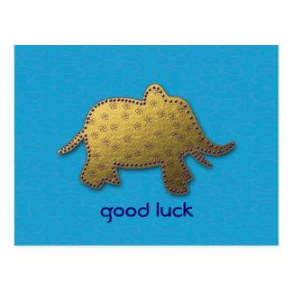 elefante do ouro cartão postal