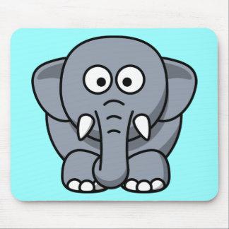 Elefante engraçado bonito mousepads