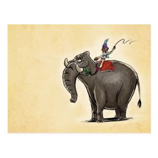 Elefante preguiçoso cartão postal