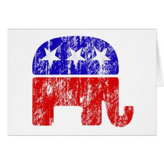 Elefante republicano desvanecido cartoes