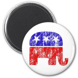 Elefante republicano desvanecido imas de geladeira
