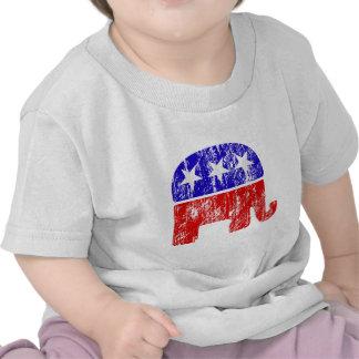 Elefante republicano desvanecido camisetas