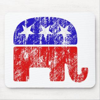 Elefante republicano desvanecido mouse pads