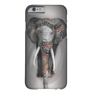 Elefante retro bonito da flor capa barely there para iPhone 6