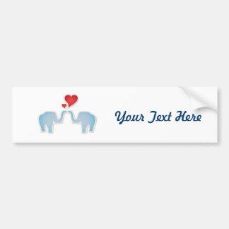 Elefantes no amor adesivo para carro