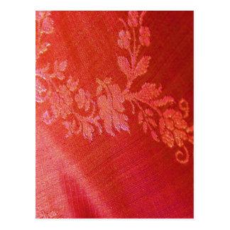 Elegância floral vermelha mim cartão - customizáve