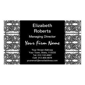 Elegância formal do vintage do laço preto do cartão de visita