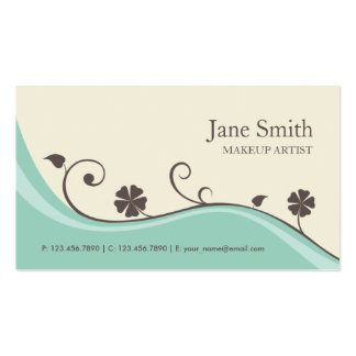 Elegante à moda moderno retro floral da flor cartão de visita