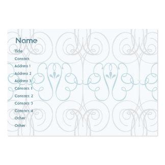 Elegante azul - carnudo cartão de visita grande
