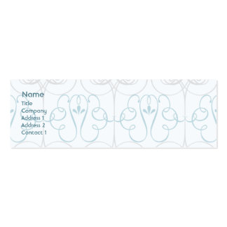 Elegante azul - magro cartão de visita skinny