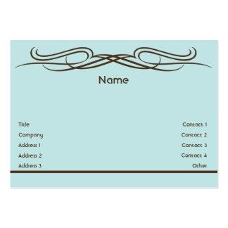 Elegante - carnudo cartão de visita grande