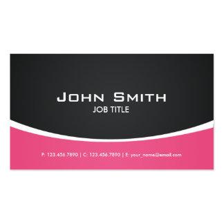 Elegante elegante moderno profissional do rosa cartão de visita