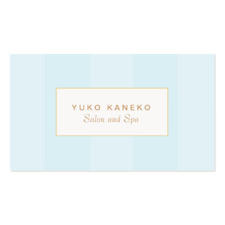 Elegante listrado claro simples do azul de cartão de visita