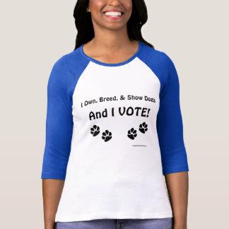 Eleitores da exposição de cães tshirts
