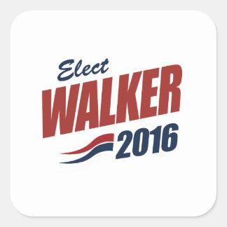 Eleja o caminhante 2016 - a eleição 2016 adesivo em forma quadrada