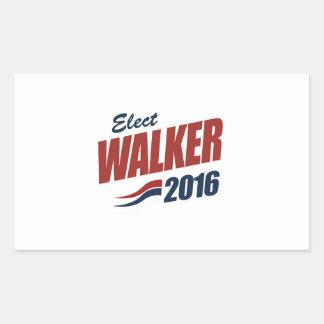 Eleja o caminhante 2016 - a eleição 2016 adesivo retangular
