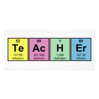 Elementos químicos do professor de ciências 10.16 x 22.86cm panfleto