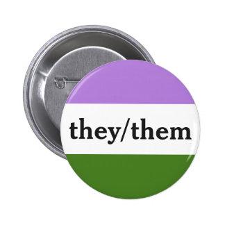 Eles/eles botões bóton redondo 5.08cm