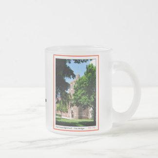 Elevação central do sílex caneca de café vidro jateado