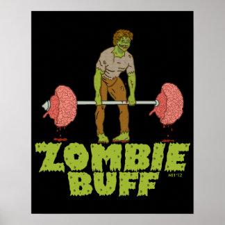 Elevador de peso engraçado do lustre do zombi pôster