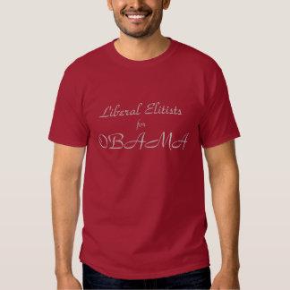 Elitistas liberais para Obama Tshirts