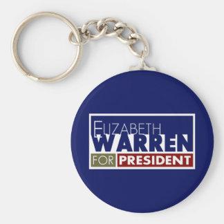 Elizabeth Warren para o presidente V1 Chaveiro