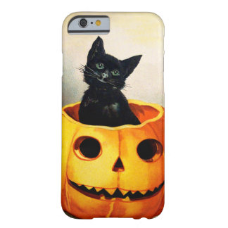 Ellen H. Clapsaddle: Gato preto em Jack O'Lantern Capa Barely There Para iPhone 6