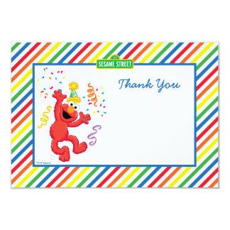 Elmo listrou o obrigado do aniversário você convite 8.89 x 12.7cm