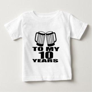 Elogio a meus 10 anos do aniversário camiseta para bebê