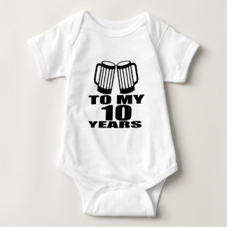 Elogio a meus 10 anos do aniversário t-shirt