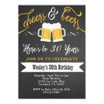 Elogio e convite de aniversário das cervejas para