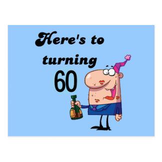 Elogios a 60 camisetas e presentes do aniversário cartão postal
