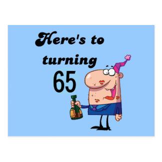 Elogios a 65 camisetas e presentes do aniversário cartão postal