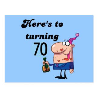 Elogios a 70 camisetas e presentes do aniversário cartões postais