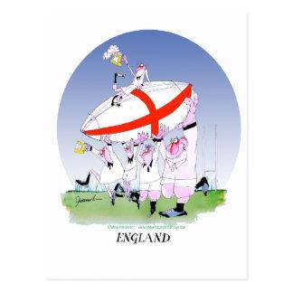 elogios ingleses do rugby, fernandes tony cartão postal