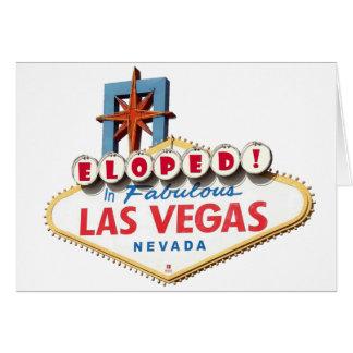 ELOPED! No cartão fabuloso de Las Vegas