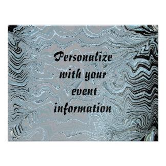 Eloquência de prata convite personalizados