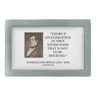 Eloquência de Washington Irving no entusiasmo