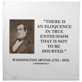 Eloquência de Washington Irving no entusiasmo Guardanapos De Pano