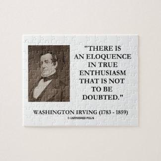 Eloquência de Washington Irving no entusiasmo Quebra-cabeças