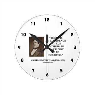 Eloquência de Washington Irving no entusiasmo Relógios De Paredes