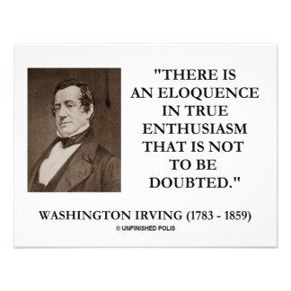 Eloquência de Washington Irving no entusiasmo verd Convites Personalizado