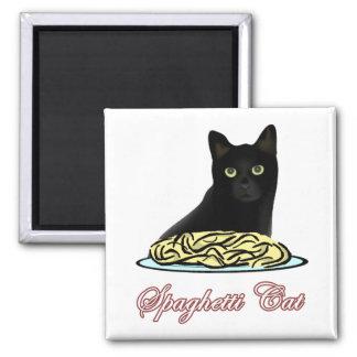 Eloquência do gato de Spagehetti Ímã Quadrado