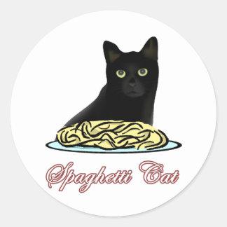 Eloquência do gato dos espaguetes adesivo