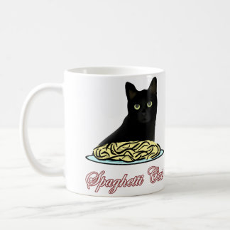 Eloquência do gato dos espaguetes caneca de café