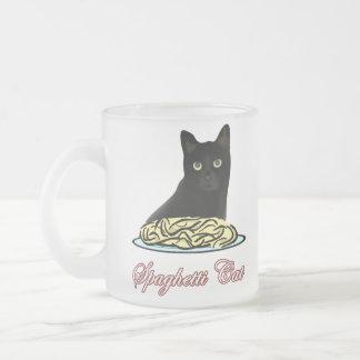 Eloquência do gato dos espaguetes caneca de vidro fosco