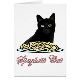 Eloquência do gato dos espaguetes cartão comemorativo