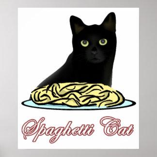 Eloquência do gato dos espaguetes poster