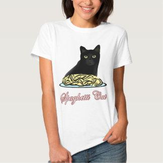 Eloquência do gato dos espaguetes tshirts