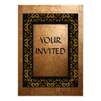 Eloquência do ouro convite 12.7 x 17.78cm